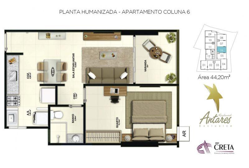Residencial Antares Exclusive – Group Creta Imóveis – Cachoeiro de Itapemirim (1)